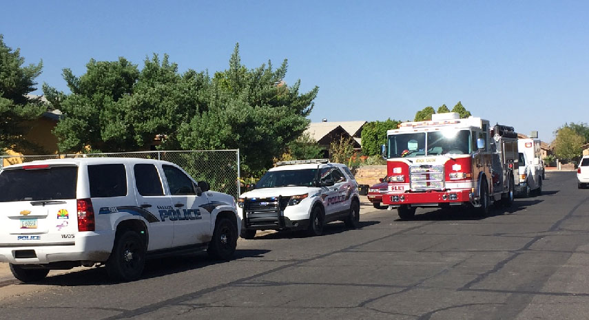 Pd and Fire on scene