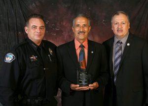 Chief Higgins, Officer Marquez, Mayor Sanchez