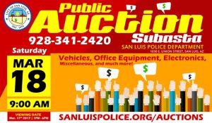 Public Auction Flyer